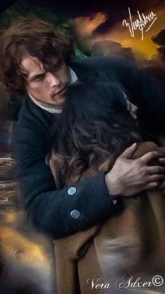 Outlander: Claire and Jamie Fraser (Graphics Photo Art by Vera Adxer)