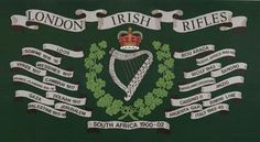 The London Irish Rifles Drums Art, Irish Warrior, Military Units, British Army, The Unit, Crests, Rifles, Badges, Flags