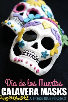 Dia de los Muertos Calavera Masks. Forget the pre made masks. Try as a draped slab project in clay?