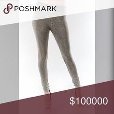 Your favorite tummy control leggings! In Gray Mineral wash high waisted gold over tummy control leggings! Pants Leggings