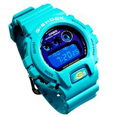 This water-resistant G-Shock DW6900SN watch has a stopwatch and a countdown timer.