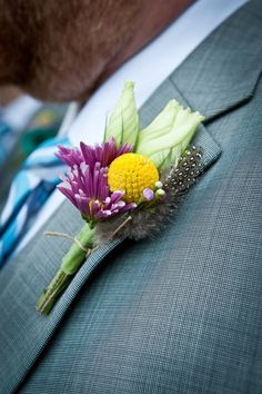 floral wedding boutonnieres