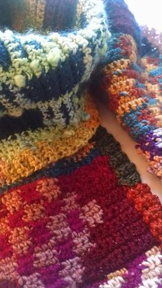 """Buena Vista"" tapestry crocheted scarf"