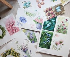 Illustration for postcards | Watercolor on Behance