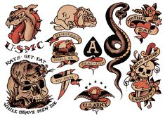 Sailor Jerry, Flash Sheet, T Shirt Design. Vulture Graffix Online Mail order T…