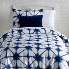 Indigo Tie Dye Duvet Cover and Sham Set - Queen - Duvet Covers - Bedding