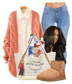 """Pumpkin Spice"" by melaninprincess-16 ❤ liked on Polyvore featuring Casetify, Olivia Burton, Reeds Jewelers, River Island and UGG"