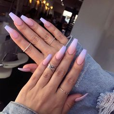 55 Best & Simple Nail Art Designs for 2019 Lady Nail art designs are quite a popular thing amongst girls. Just Explore here and see our Best & Easy Nail Art Designs to make your finger more beautiful. So must try it and make your day more beautiful. Acrylic Nails Natural, Purple Acrylic Nails, Summer Acrylic Nails, Best Acrylic Nails, Coffin Nails Ombre, Ombre Nail Art, Acrylic Art, Purple And Pink Nails, Blue Ombre Nails