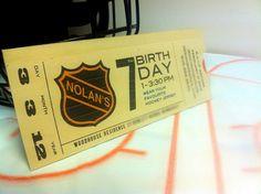hockey party invites