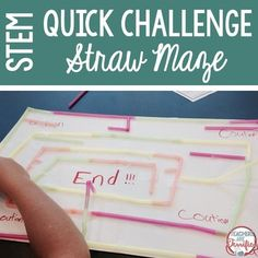 STEM Quick Challenge: Kids are fascinated with mazes! Heres an engineering design challenge to allow them to build a maze using two simple supplies!This challenge features the task of using given supplies to create a maze for a marble to travel through.