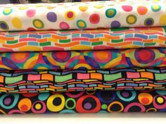 5 bright and bold Fabric Traditions fat quarter by RCJFabrics