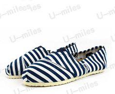 Vegan Classics TOMS Cheap Mens Blue Stripe Rope Sole Shoes