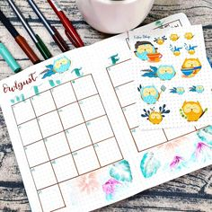 Monthly Themes, Bullet Journal, Blog, Blogging