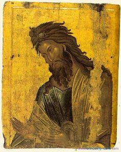 The Birth of St John the Baptist Byzantine Icons, Byzantine Art, Religious Icons, Religious Art, Russian Icons, Biblical Art, Archangel Michael, John The Baptist, Orthodox Icons