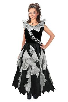 Zombie Prom Queen (11-13 Years). Childrens Costumes- Female - 11-13 Years