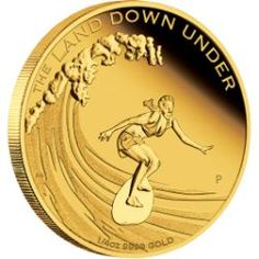 The Land Down Under – Surfing 2013 1/4oz Gold Proof Coin