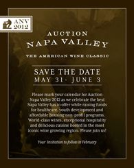 We are happy to be apart of this great event!  Auction Napa Valley May 31-Jun 3: ANV gives back 100% to our community!
