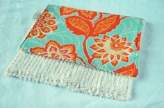 "Heirloom collection by Joel Dewberry cotton on one side, absorbent chenille on the other side. 9"" by 15"""