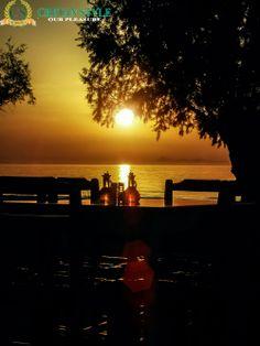 Sun going down over the table, Stavromenos sundown...