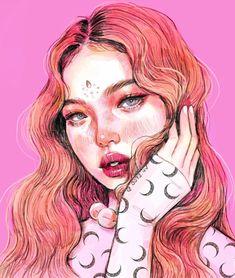 Portrait Illustration Sorry this is a fan art only account now. Illustration Mode, Portrait Illustration, Pretty Art, Cute Art, Fan Art, Arte Sketchbook, Digital Art Girl, Aesthetic Art, Portrait Art