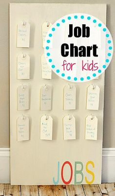Job Chart for Kids