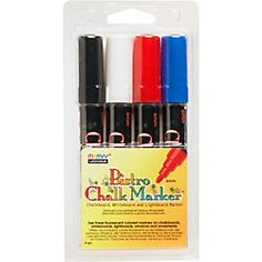 Love these chalk markers- (don't use them on painted chalk surfaces)