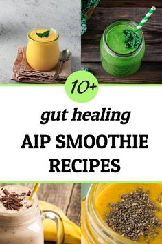 If you or a family member are dealing with a leaky gut, you may find relief from drinking one of these delicious AIP Smoothie Recipes (Paleo and Vegan). One of my favorite ways to help restore and heal the gut and soothe inflammation is to eat foods that are anti-inflammatory and rich in essential gut-friendly nutrients and probiotics. These gut healing smoothie recipes all have these important ingredients.