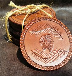Hey, I found this really awesome Etsy listing at https://www.etsy.com/listing/535151026/set-of-6-indian-chief-feather-coasters