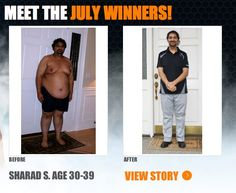":::July Winner::: Sharad lost 125 lbs & won a thousand dollars in The Beachbody Challenge! ""I had hit rock bottom -- constant doctors' appointments, complete depression, and everyone seemed to be moving forward in their life, except me. ... My Coach, Paul Cravey, immediately suggested I begin with Power 90 which I successfully completed. I wanted more so I moved to P90X. ...Today, just 10 months later, I have lost 125 pounds... For the first time in over 20 years, I am excited about my…"