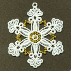 FSL Snowflake 9, 10 - 4x4 | FSL - Freestanding Lace | Machine Embroidery Designs | SWAKembroidery.com Ace Points Embroidery