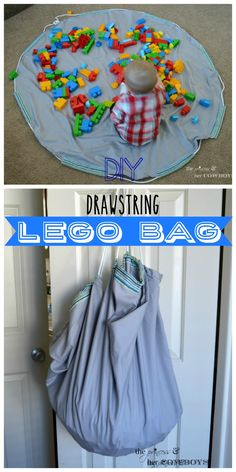 Drawstring Lego Bag l The Princess & Her Cowboys
