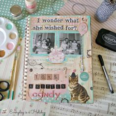 Art Journaling from the book Mixed Media Masterpieces with Jenny & Aaron