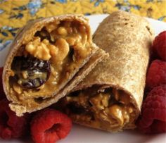 Best Cold Sandwich Recipes are Perfect for a Lunchbox or Quick Snack: Peanut Butter Granola Wrap Sandwich