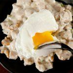 Turkey Hash with Poached Eggs from CHOW