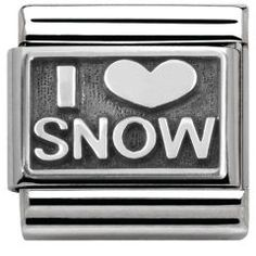 Nomination Silvershine Charm I love snow.