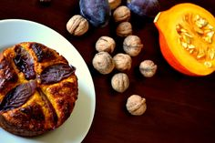 Pumpkin cake with cinnamon and plump/ healthy, no sugar and fat, perfect after training