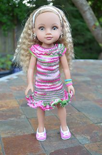 knitted outfit for 14 inch doll Hearts for Hearts