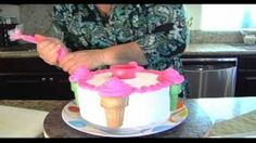 Decorate a Birthday Cake in Minutes, via YouTube.
