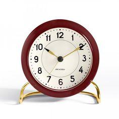 Details about Arne Jacobsen Bankers Table Clock, Alarm Clock, Analogue, Concave…