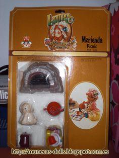 """Mis Muñecas: Laura de las montañas - """"Merienda"""" (Picnic), años 70"""