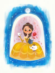 If you are around disneyland today. Ill be at downtown disney's wonder ground gallery doing signing/ painting with Miss Mindy/David Lozeau. This original acrylic painting of Belle will be available for purchase. Ill be doing demo painting of Jasmine. Bella Disney, Disney Amor, Deco Disney, Film Disney, Disney Belle, Disney Artwork, Disney Fan Art, Disney Drawings, Disney Love