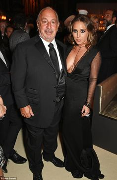 Daddy's girl: Chloe Green looked phenomenal as she showed off her curves in a daring dress at the British Fashion Awards with her Topshop boss dad Sir Philip Green