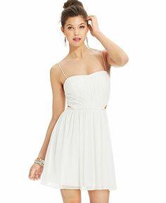 Hailey Logan Juniors' Pleated Cutout Dress - Juniors Dresses - Macy's