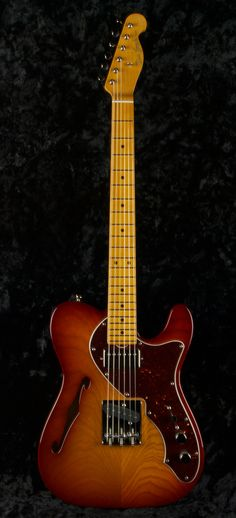 NOS-HT #3235 Dark Cherry Burst, Swamp Ash, F Hole, Grosh TH pickups. - groshguitars