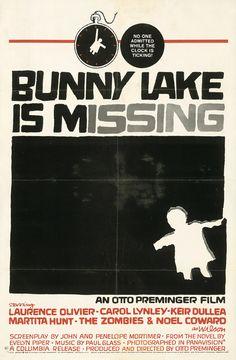 Saul Bass (1920-1996) – Affiche pour le film Bunny Lake a disparu (1965)