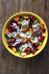 A solution to what do with your leftover Thanksgiving turkey. This is a nice alternative to the turkey sandwich, particularly if you are on a gluten-free or paleo diet. Lamb Recipes, Healthy Recipes, Eat Healthy, A Food, Good Food, Turkey Salad, Lamb Shanks, Thanksgiving Leftovers, Thanksgiving Recipes