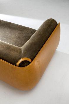 Meir - Customizable modern luxury sofa in leather Funny Furniture, Furniture Upholstery, Custom Furniture, Luxury Furniture, Furniture Design, Luxury Sofa, Luxury Interior, Luxury Living, Modern Interior