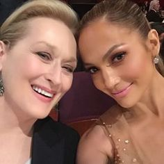 The time she did what any of us would do if were sitting next to Meryl Streep…   19 Times Jennifer Lopez Proved She Was The Celeb Having The Most Fun On Instagram