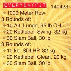 #EveryDayFit 140423 #workout #wod #crossfit #kettlebell