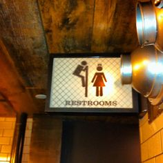 Bathroom sign at The Smith restaurant in New York